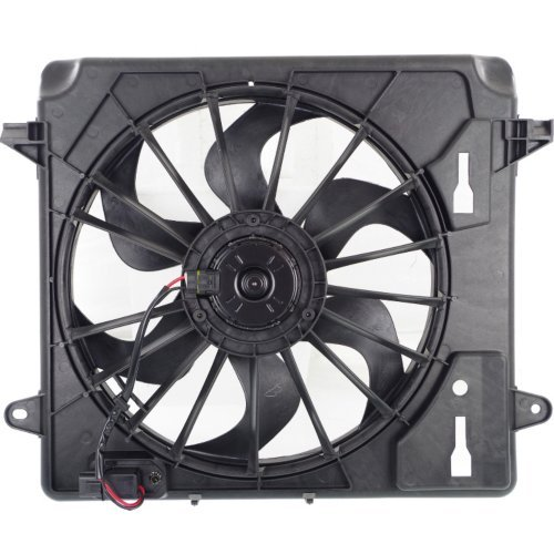 - Cooling Fan Assembly Compatible with JEEP WRANGLER (JK) 2007-2011 Single Fan with Resistor