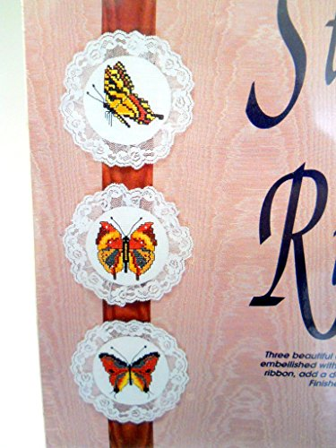 Moire Glass (New Stitches on Ribbon Cross Stitch Butterflies Kit, 3 Beautiful Designs with Lace and Mounted on Moire)