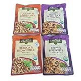 Seeds of Change Variety 4 Pack of Organic Quinoa & Brown Rice With Garlic (2) And Brown & Red Rice With Chia & Kale (2)