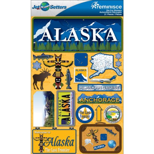 Reminisce Jet Setters Dimensional Stickers-Alaska 4.5