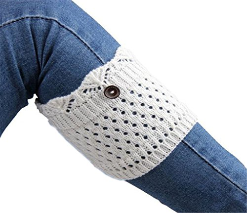 AnVei-Nao-Womens-Stretch-Knitted-Button-Boot-Leg-Cuffs-Leg-Warmers-Topper-Socks