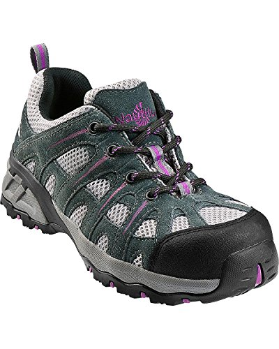 Nautilus 1754 Women's Comp Toe No Exposed Metal EH Athletic Shoe,Grey/Lavender,7.5 M (Lavender Leather Footwear)