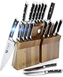 DALSTRONG Knife Set Block - Gladiator Series Colossal Knife Set - German HC Steel - 18 Pc - Walnut Stand