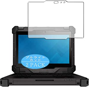 "【2 Pack】 Synvy Anti Blue Light Screen Protector Compatible with Dell Latitude 12 Rugged Extreme 7204 11.6"" Anti Glare Screen Film Protective Protectors [Not Tempered Glass]"