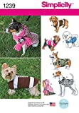 sewing dog clothes - Simplicity Creative Patterns 1239 Dog Coats in Three Sizes, Size: A S-M-L