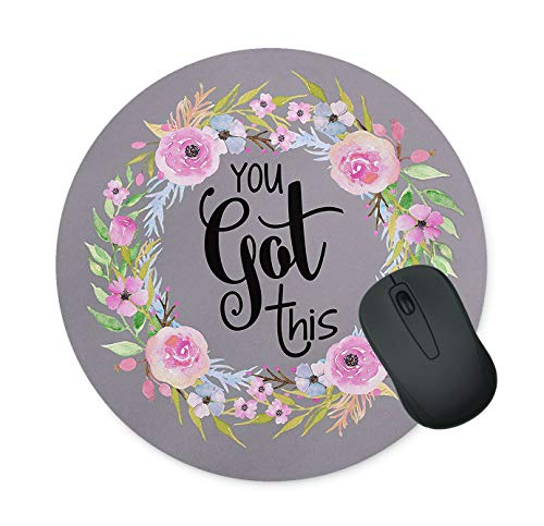 Floral Mouse Pad Neoprene Round Mouse Pad Office Computer Accessories Mouse Pad