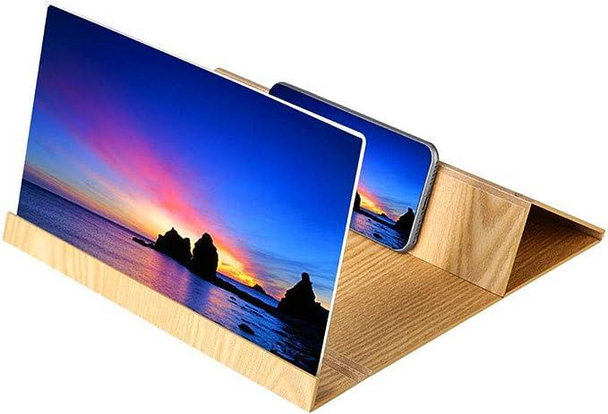 Samsung iPhone 3D HD Pieghevole lente di ingrandimento Supporto in plastica Rigida per Tutti Gli Smartphone FOONEE Sony Lente dIngrandimento per Schermo del Telefono LG Nero Moto