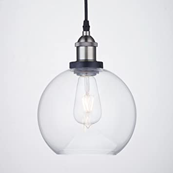 CLAXY Ecopower Lighting Vintage Clear Glass shade Pendant Lighting