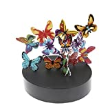 JxyzyxJ Magnetic Sculpture Desk Toy Office Decor Stress Reliever Stocking Stuffer – A Magnetic Base and 12 Butterflies