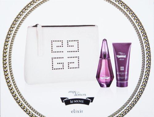 GIVENCHY ange ou demon le secret elixir Gift Set for Women (1.7 FL OZ EDP Intense Spray, 3.3 FL OZ Silk Body Veil and Cosmetic Purse) ()