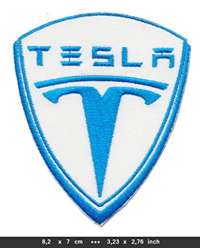 TESLA MOTORS Iron Sew On Cotton Patches Auto Electric Sports Cars Roadster Model S X USA by RSPS Embroidery Auto Car Sports Iron