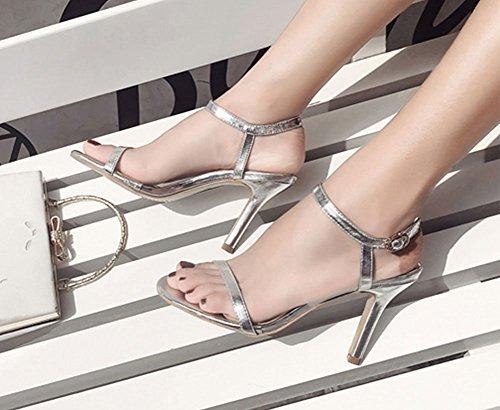 Sandales Sandales pour Silver Femme Lazutom Femme Lazutom pour pour Sandales Silver Lazutom UHtqxtO