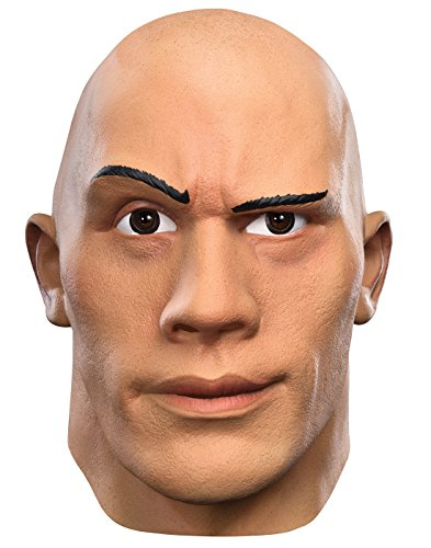 Disguise Men's The Rock Deluxe WWE Adult Mask, Multi, One (Easy Wwe Costumes)