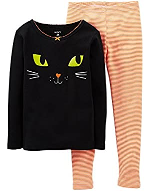 Baby Girls' 2 Piece Graphic PJ Set (Baby) - Cat