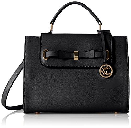 Stella Maris sac à main sac à doublé porté sac porté épaule sac porté croisé pour femmes en cuir noir avec organisateur de sac amovible - STMB608-01
