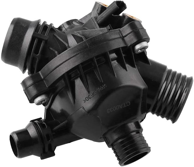 11537549476 11537544788 YuYue Engine Coolant Thermostat W//Housing Assembly Replacement for E88 E90 E60 E83 X3 E89 Z4 OEM:11537536655