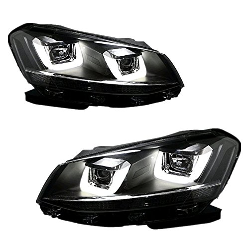 (Headlight Assembly,ECCPP LED DRL Driver/Passenger Head Lamp for Volkswagen Golf 6 2008 UP)