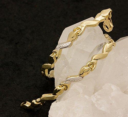 Alex-Super-Schmuck.de ASS Bracelet ondulé en or585 et diamants de 14ct 19cm Brillant