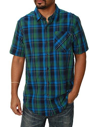 ALPINESTARS Men's Gazam Short Sleeve Shirt, Blue, Large