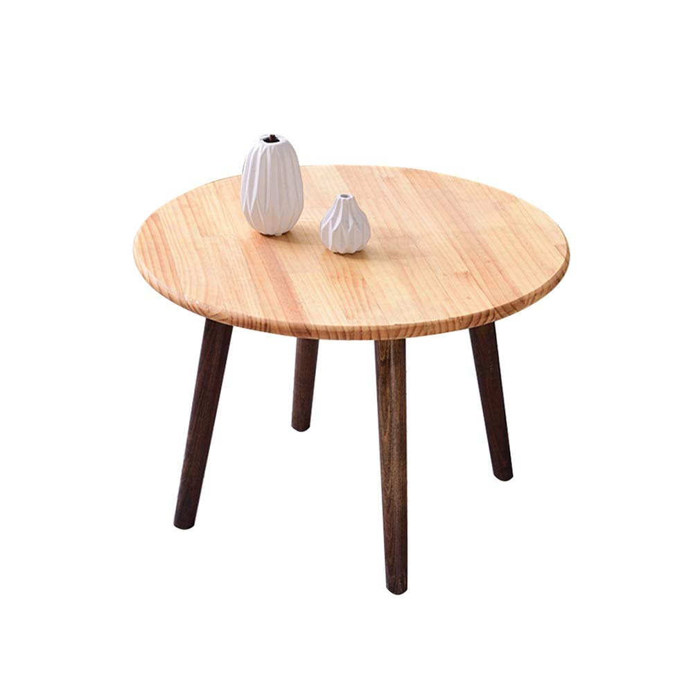Amazon com xiaoyan dining table round small coffee table modern leisure wooden tea kitchen table solid wood legs 4 colors 2 sizes color e