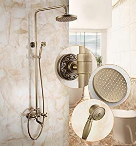 SAEKJJ-European Copper Antique Adjustable Shower Shower Set , B6 Bathroom faucet 50%OFF