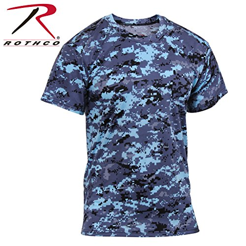- Rothco Polyester Performance T-Shirt, Sky Blue Digital Camo, XX-Large