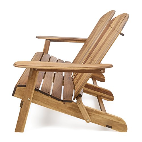 Great Deal Furniture Muriel Outdoor Natural Finish Acacia Wood Adirondack Loveseat by Great Deal Furniture (Image #2)