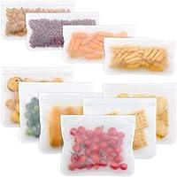 10-Pack Leak Proof Freezer Easy Seal Ziplock Reusable Storage Bags