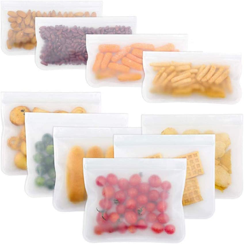 Amazon Promo Code for Reusable Storage Bags 10 Pack Leak Proof Freezer Bags