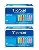 Microlet Colored Lancets, 100 Count (2 Pack)