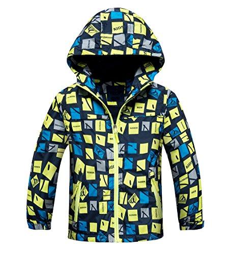 Echinodon Gevoerde jas voor jongens, waterdicht, winddicht, ademend, kindersportjas, wandeljas, overgangsjas…