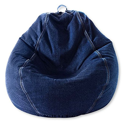 Beanbag - Adult Pear, Denim, Indigo Blue Denim Bean Bag
