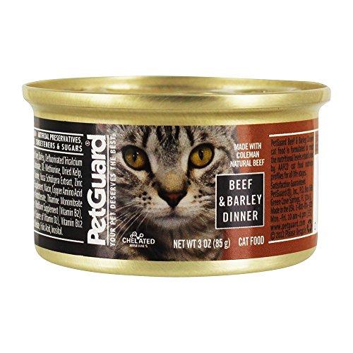 PetGuard, Cat Food, Beef & Barley, 3 oz