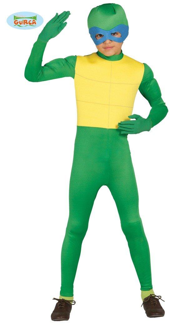 Disfraz de ninja verde para niño - 5-6 años: Amazon.es ...