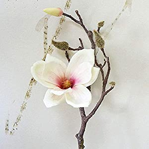 Artificial Dried Flowers - 3d Colors Decorative Magnolia Flower Real Touch Big Silk Orchid Branch Decoration Gift 1 Heads Fake - Tulips Ribbon Home Plants Big Card Fake Scarf Azaleas Orchid 52