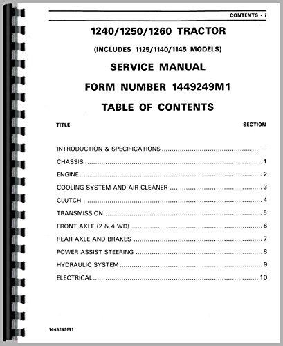 Service Manual Massey Ferguson 1140 1240 1260 1250 1125 1145 Tractor