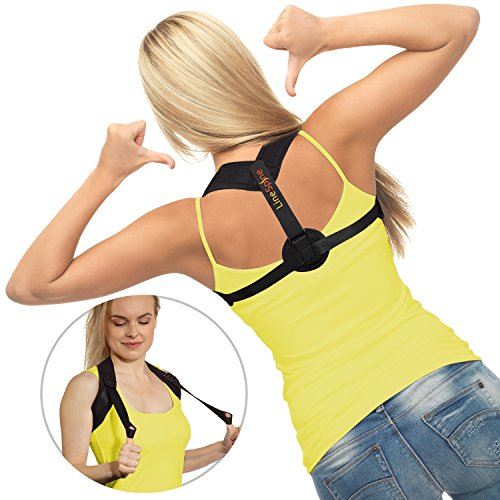 LineSpine Posture Corrector for Women and Men - Comfortable Posture Brace - Effective Upper Back Support - Adjustable Back Straightener for Back Pain Relief - Prevents Slouching and Hunching by LineSpine