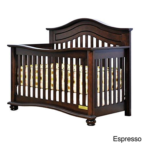 Athena Lia 4-in-1 Convertible Crib with Free Guardrail, Espresso Review