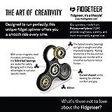 Fidget Spinner Black Gold Street - [Gold Bearings, Black Frame] by Fidgeteer