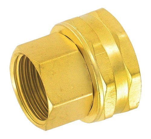 Gilmour 805574-1001 Brass Hose to Pipe Swivel Connector | 1/2 Inch Female Pipe X Female Hose Thread - 2 Pack