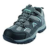 Northside Women's Snohomish Low Hiking Shoe, Gray/Aqua, Size 10 M US
