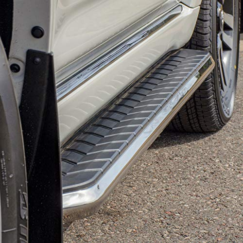 ARIES 2051870 AeroTread 70-Inch Polished Stainless Steel SUV Running Boards Brackets Sold Separately ()