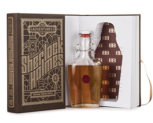 Bender Bound Adventures of Sherlock Holmes Booze Book with Hidden Flask (Italian Glass Flask Included)