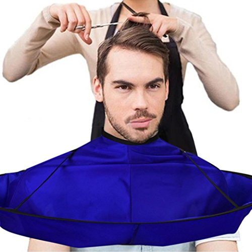Price comparison product image YJYDADA DIY Hair Cutting Cloak Umbrella Cape Salon Barber Salon And Home Stylists Using (Blue)