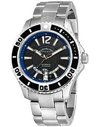 Stuhrling Original Men's 161B4.331151 Watersport Regatta Diver Swiss Quartz Date Stainless Steel Bracelet Watch