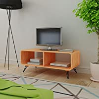 Retro Style TV Cabinet Stand Home Entertainment unit - Coffee table - Living Room Furniture Decor, Brown