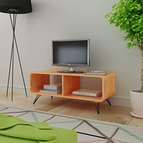 Retro Style TV Cabinet Stand Home Entertainment unit - Coffee table - Living Room Furniture Decor, (Sonoma Corner Tv Stand)