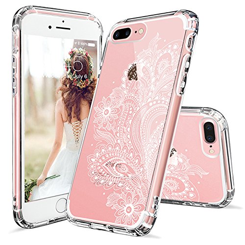 Iphone 7 plus case iphone 8 plus case iphone 7 plus clear case mosnovo white floral henna - Iphone 8 plus case ...