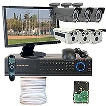 GW Security VD6CHH4 8 CH HD-SDI DVR 6 x Professional 1/3-Inch 2.1 Megapixel CMOS Camera Progressive Scan 1080P Video Output Mode (Colorful)