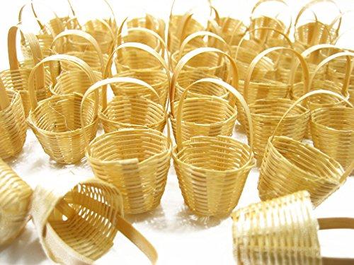 100 Wholesale Wicker Holder Basket Fruit Vegetable Dollhouse Miniature Supply -